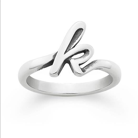 james avery k initial ring